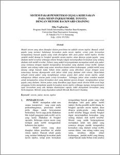 Sistem Pakar Pendeteksi Gejala Kerusakan Pada Mesin Injeksi Mobil