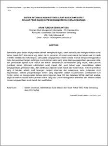 Sistem Informasi Administrasi Surat Masuk Dan Surat Keluar