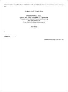 company profile yamaha motor udinus repository