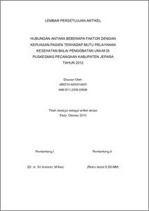 Jurnal kepuasan pasien terhadap pelayanan kesehatan