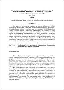 Jurnal komitmen organisasi 2013